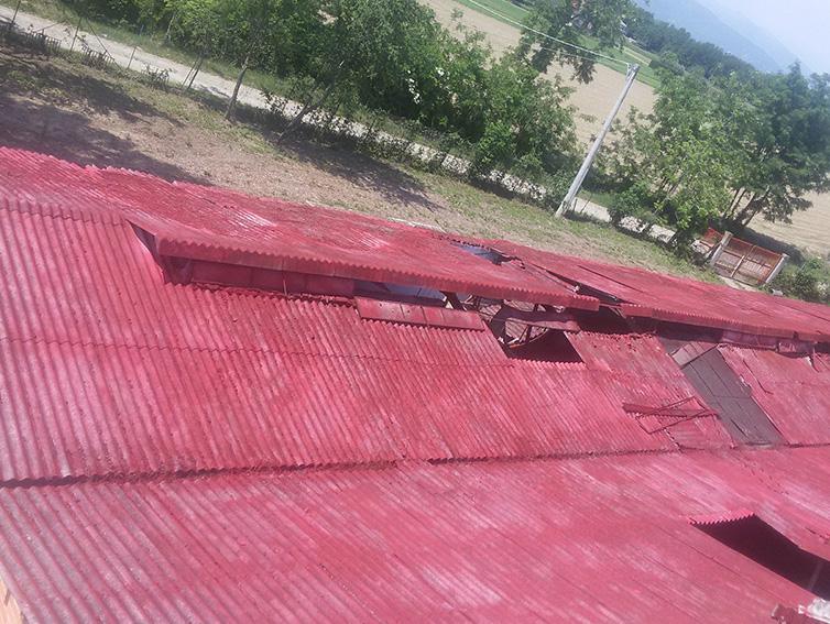copertura tetto in amianto